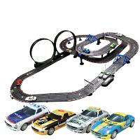 儿童轨道赛汽车双人电动遥控路轨玩具套装