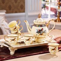 欧式茶具套装奢华英式下午红茶杯茶壶陶瓷咖啡杯套装家用带托盘