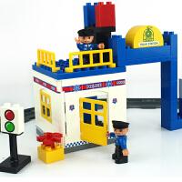 大颗粒积木塑料拼插轨道火车系列儿童拼装玩具