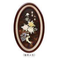 木雕玉雕挂件中式实木玄关背景墙卧室挂画墙上现代浮雕装饰画