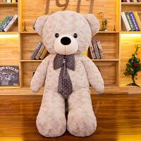 毛�q玩具泰迪�抱抱熊公仔大�1.6米布娃娃情人�生日�Y物女生