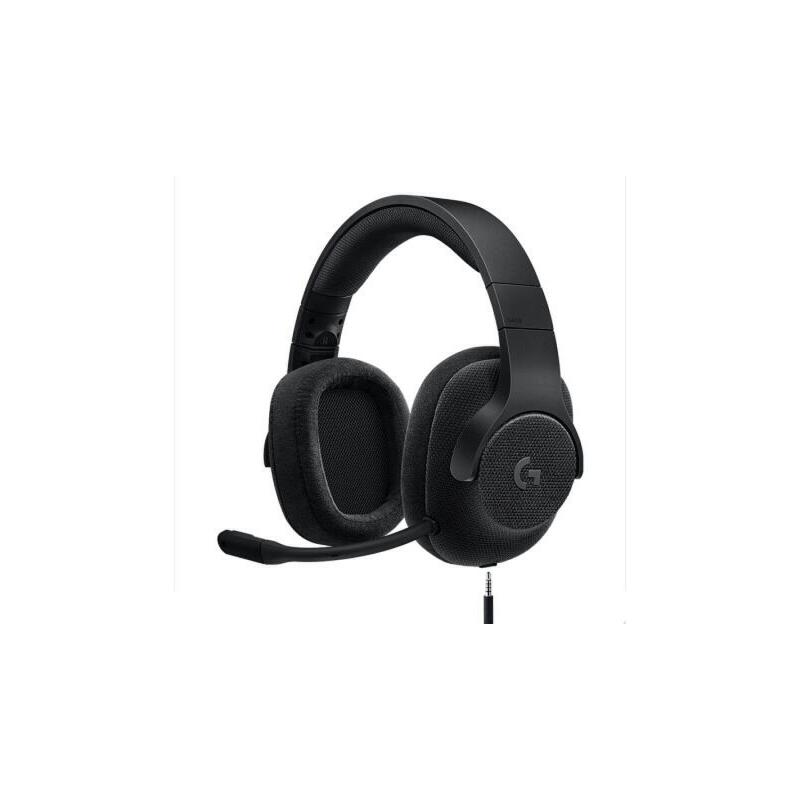 罗技(Logitech)G433 7.1 有线环绕声游戏耳机麦克风(黑色) 游戏耳麦 电竞耳机 头戴式耳机