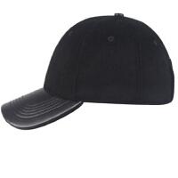 时尚男士秋冬皮棒球帽男式冬帽男帽子棒球帽时尚毛呢鸭舌帽