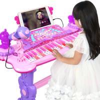 儿童电子琴玩具 1-3-6岁初学者宝宝女孩钢琴话筒可弹奏充电