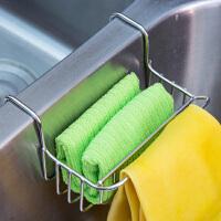 【满减】ORZ 304不锈钢水槽挂篮连毛巾架 厨房洗碗池水槽沥水架洗菜盆沥水篮