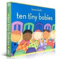 凯伦.卡茨 Karen Katz 英文原版纸板书启蒙童书 Ten Tiny Babies 10个小宝贝儿童数数字启蒙入