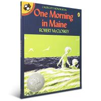 英文原版绘本 凯迪克银奖 One Morning in Maine 海边的早晨【平装】
