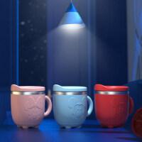 迪士尼儿童水杯 带刻度线不锈钢防摔直饮杯 家用饮水杯宝宝喝水杯