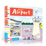 英文原版 儿童绘本 Busy系列 Busy Airport 忙碌的机场 纸板机关操作活动书 儿童启蒙基础入门英语学习