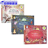 英文原版绘本发声书0-3岁 The Story Orchestra 万物有声 古典音乐发声书 3册全套 音乐故事