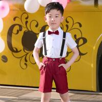 2019 六一儿童演出服装男童女童礼服表演幼儿园大合唱小学生毕业背带裤