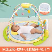 宝宝躺着玩的玩具婴儿健身架器脚踏钢琴0-3-6个月1岁新生儿宝宝早教音乐玩具