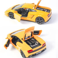 彩珀合金车模兰博基盖拉多LP560-4跑车声光回力可开门儿童玩具车