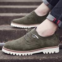 米乐猴 潮牌英伦反绒皮男鞋休闲鞋青年透气伐木鞋男士皮鞋翻毛鞋子户外鞋