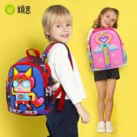 儿童书包幼儿园小孩书包4-6岁儿童背包双肩包可爱中大童幼儿包包