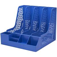 桌面资料架收纳文件整理置物架书立办公用品文件框四联文件座