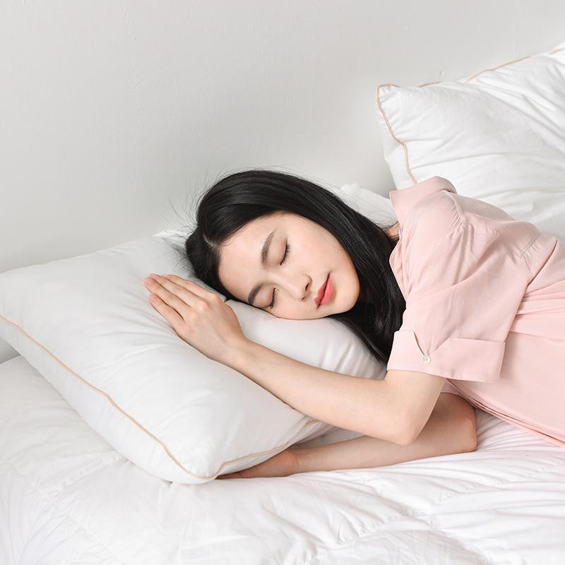 网易严选 升级款可水洗舒柔羽丝绒枕柔软舒适,深度睡眠