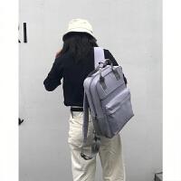 电脑包女双肩手提15.6英寸13苹果联想小米14笔记本大学生时尚背包 淡紫色 游戏本下单备注