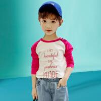 木木屋女童T恤2021春夏女童长袖t恤儿童女孩洋气打底衫中大童T恤