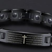 韩版个性潮男手环学生手饰手镯潮人首饰品简约钛钢十字架男士手链