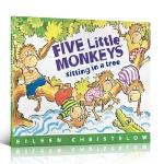 廖彩杏书单 Five Little Monkeys Sitting in a Tree 五只小猴子坐在树上 英文原版平