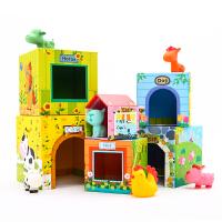 1-3岁儿童叠叠高玩具层层叠叠乐启蒙叠叠塔桌游亲子游戏