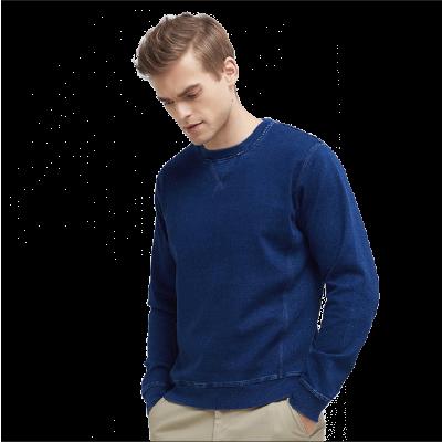 【网易严选清仓秒杀】男式仿针织牛仔套头衫 层次分明的特别织法,让体感松软饱满。