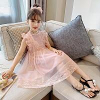 木木屋女童夏装公主裙洋气2021新款童装中大童夏季中长款蕾丝连衣裙
