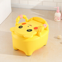 加大号儿童抽屉式坐便器小孩坐便凳多功能马桶男女宝宝便尿盆加深 柠檬黄 加高加深送刷和垫