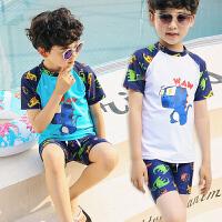 儿童泳衣男童小中大童游泳衣套装男孩泳裤宝宝