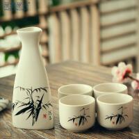 创意白酒酒具套装陶瓷家用白酒杯水墨风陶瓷烈酒杯