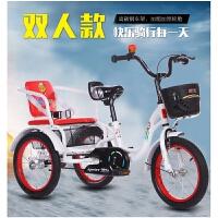 儿童三轮车脚踏带斗大号2-6-8岁双人充气轮胎 小孩宝自行车