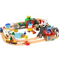 木质托马斯电动小火车发声轨道套装情景 儿童拼装益智木质玩具车 79片发声轨道(电动) 官方标配