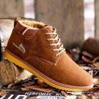 【冬季新品】冬季新款男靴子韩版棉鞋男保暖加绒休闲鞋潮鞋高帮鞋男英伦板鞋Y044JLF
