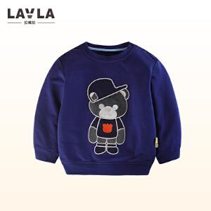 lavla童装 2018春装新款儿童卡通T恤男童打底衫中小童圆领上衣童装