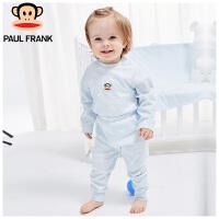 【书香节每满200减100】大嘴猴(paul frank)婴幼儿 长袖圆领纯棉套装1入装