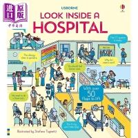 【中商原版】尤斯伯恩看里面低幼系列:揭秘医院 Look Inside a Hospital 翻翻书 医务科普 亲子绘本