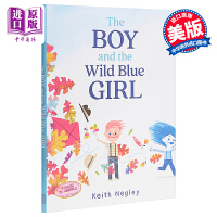 【中商原版】Keith Negley:男孩与蓝孩的的秘密 The Boy 精品绘本 性别启蒙 好奇心观察专注改变 英文原