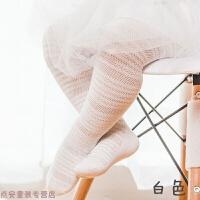 冬季夏季女童宝宝连体袜子婴儿纯棉连裤袜大PP儿童打底裤薄款1-3-5岁秋冬新款 白色 图腾款