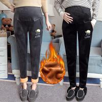 长裤修身孕妇裤 孕妇装冬季新款2018外穿加绒孕妇打底裤托腹裤