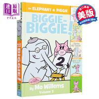 【中商原版】小猪与小象故事合集2An Elephant & Piggie Biggie Volume 2!精品绘本情商