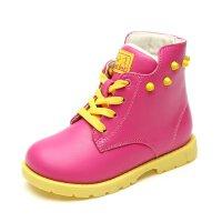 【每满200减100】 SHOEBOX/鞋柜 冬季新款男童马丁靴 防滑雪地靴短靴女童鞋