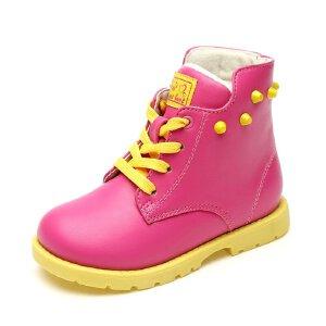 SHOEBOX/鞋柜 冬季新款男童马丁靴 防滑雪地靴短靴女童鞋