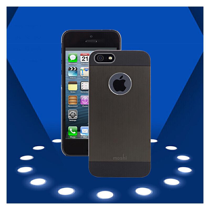 Moshi摩仕iPhone5S苹果手机壳iPhone SE手机套苹果5S外壳保护壳金属拉丝外壳 苹果专柜同款 超薄时尚 钻石切割 自由操控