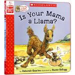 廖彩杏书单英文原版绘本 Is Your Mama a Llama? 你的妈妈是驼羊吗 精装 常青藤爸爸英语启蒙