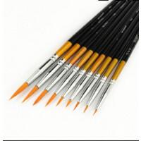 莫奈MONET进口尼龙勾线笔700水彩画笔单支短杆圆峰勾线画笔