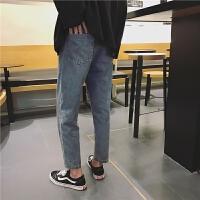 新款秋冬季 街头休闲男牛仔裤 直筒裤 宽松男士牛仔裤潮 韩版男裤