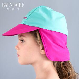 范德安儿童泳帽 2016女童可爱游泳帽 护颈沙滩帽舒适防晒游泳装
