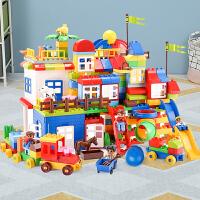 积木玩具拼装大颗粒1-4女孩3-6周岁男孩子儿童城市