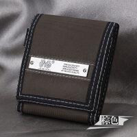 帆布尼龙休闲简约男式短款钱包学生运动三折小钱夹带门卡位 棕色
